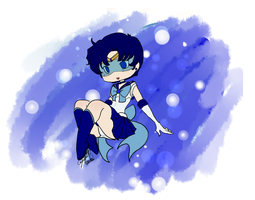 Chibi Sailor Mercury by EternalGraveDancer
