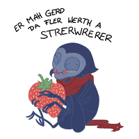 Francoeur and the Strawberry [GIF] by MissBloodyEyes