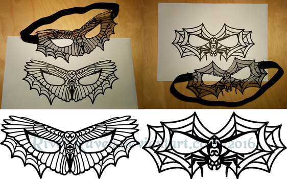 Halloween lace mask by RiverRaven