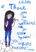 thanks for 100+ watchers!!! I LOVE YOU! by ZollaUchiha