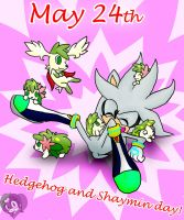 CE-Happy Hedgie N Shaymin Day by Fantailed-Hedgehog