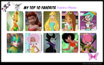 Top 10 Favorite Fairies by cartoonsbest
