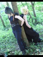 Zack and Cloud by 1Kasumi