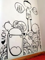 Wall Doodle by SneakyPictures