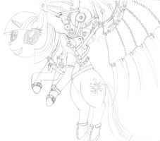Steampunk pony by The-Laughing-Horror