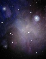 Purple blue galaxy by feeora