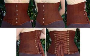 Brown Herringbone Underbust by sidneyeileen