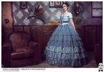 Blue crinoline gown by Esaikha