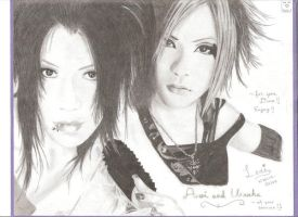 Aoi and Uruha from GazettE by tachiban18