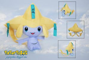 Pokemon Papercraft - Jirachi by PaperBuff