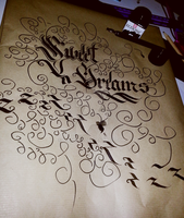 Sweet Dreams Calligraphy by Milenist