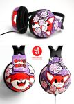 little red fox headphones by Bobsmade