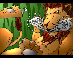 A Lion Ate My Keyboard by EuchridEucrow