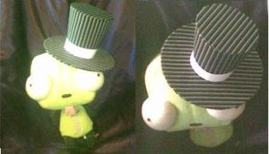 Tiny Pinstriped Top Hat by Spork-Puppy