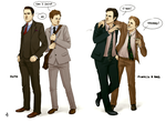 Suits and F+B Fanart: VS by NinaKask
