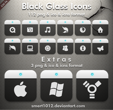 Black Glass Icons by smert1012