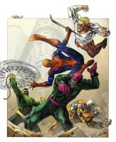 Wrecking Crew rumble in NYC by SpiderGuile