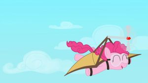 Flying Pinkie Wallpaper by Birdco