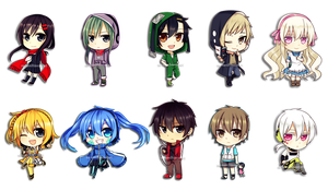 -Mekakucity Actors chibi- by Na-Nami