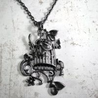 Cinderella Birdcage Necklace by Om-Society