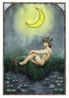 Dreaming Satyr by Vojageyr