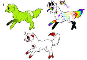 Dog Adoptables~ [CLOSED] by SugaryLovewish