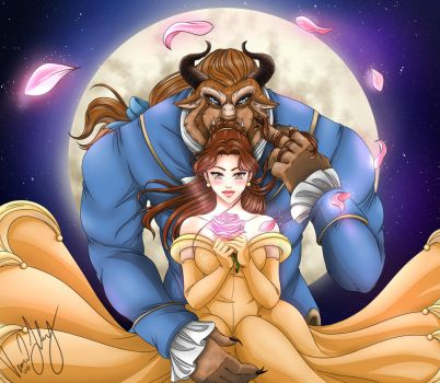 Speed Art: Beauty and The Beast by Vesenia