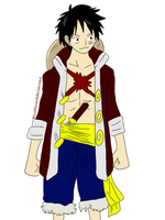 3D2Y Concept: Monkey D. Luffy by BlueRiser