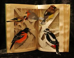 Birds and Branches Book Sculpture by wetcanvas