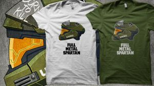 Full Metal Spartan T-Shirts by MikeDimayuga