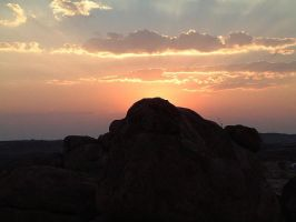 sunset over Devils Marbles NT by StormGirl-Blue