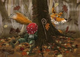Fall in the forest by SkullArt72