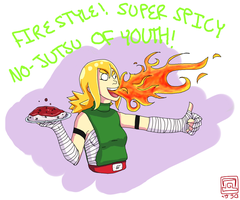 FIRE STYLE! SUPER SPICY NO JUTSU OF YOUTH! by Creativegreenbeans