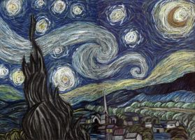 AS: Van Gogh: The Starlit Nigh by FleetingEmber