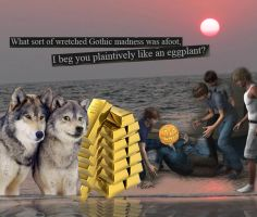 Wolfies and Gold on the Beach of Madness by Nemper