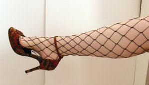 Leg - Fishnet Stock28 by D-is-for-Duck