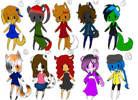 free adoptable batch 7 *CLOSED* by ookami8118