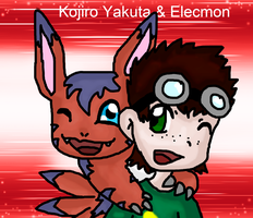 Best Partners - Kojiro Yakuta and Elecmon by Phewmonster