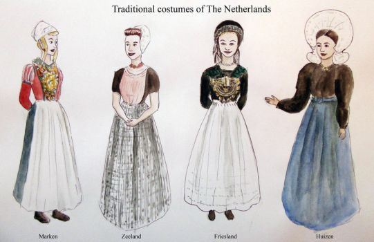 Traditinal costumes of The Netherlands by Raagane