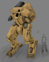 Desert Mech by Greenstuff-Alex