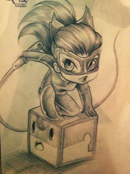 Chibi Catwoman by Claudiney