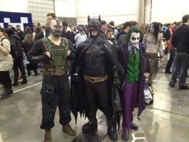Supanova 2012 - Bane, Batman, Joker by nkbswe5