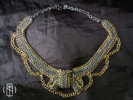 Chainmail Bow Choker by dalentalas
