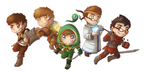 .: Legends of YouTuberia - GANG chibis :. by AquaGD