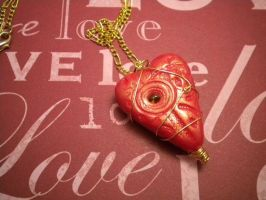 Ugly Heartling Necklace - Red by Noviel