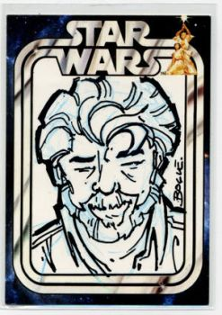 George Lucas STAR WARS convention sketch card by Fexx-Neon