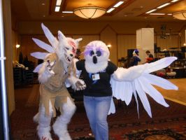 Lieutanant Wolfendale and Owl (RMFC) by TwistedTerrace