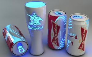 Glowing blue Budweiser beer by Dracu-Teufel666