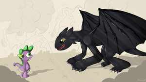 My (ToothLess) Dragon Brother by malamol