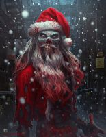 Zombie Claus by kerembeyit
